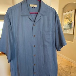 Men's Medium Dusty Blue Tommy Bahama Button Down